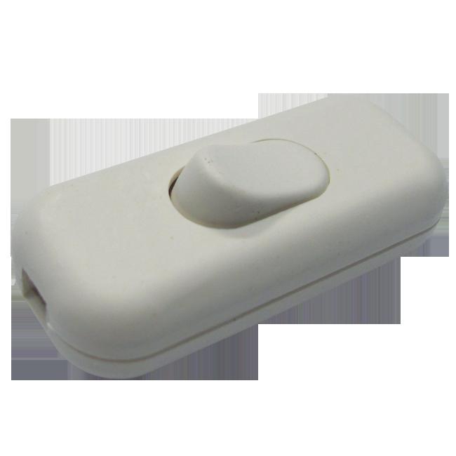 Prekidač kablovski 250v, beli | Uradi Sam Doo