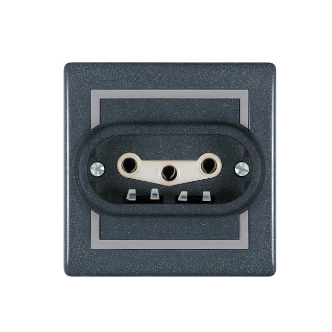 Priključnica tropolna keramička antracit 602.212 | Uradi Sam Doo