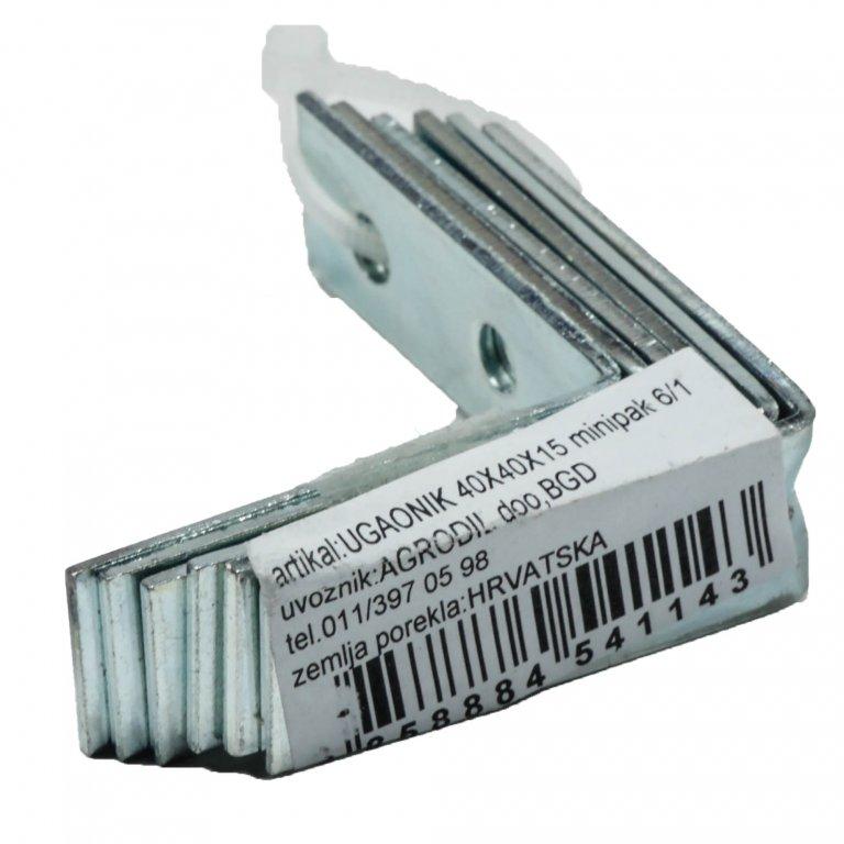 UGAONIK 1,5mm 40X40X15 6KOM | Uradi Sam Doo
