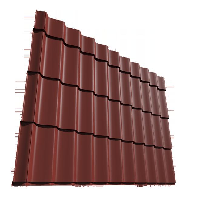 POKRIVNI LIM U OBLIKU CREPA 1,02X2,1M(O,5mm) CRVENI ( 2.142m2 ) | Uradi Sam Doo