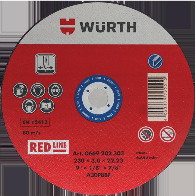 REZNA PLOČA RED LINE 230X3/22.23MM ČELIK | Uradi Sam Doo