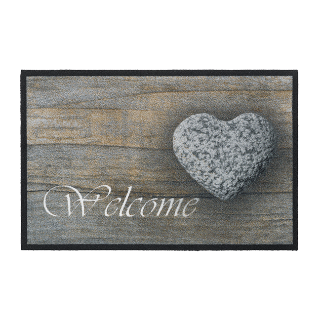 OTIRAČ WELCOME STONE HEART 50X75 | Uradi sam