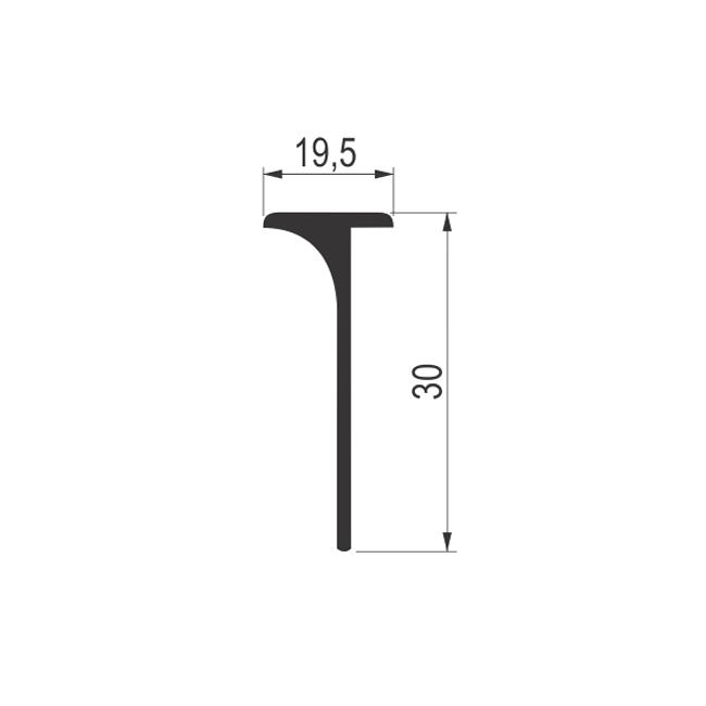 PROFIL ALU. 30mm T- 01  - 0.65m