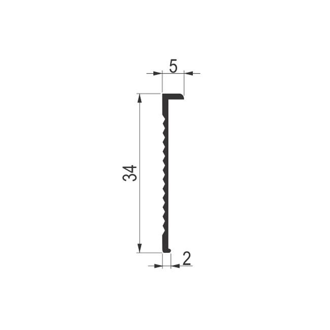 PROFIL ALU. 30mm T- 02  - 0.65m | Uradi Sam Doo