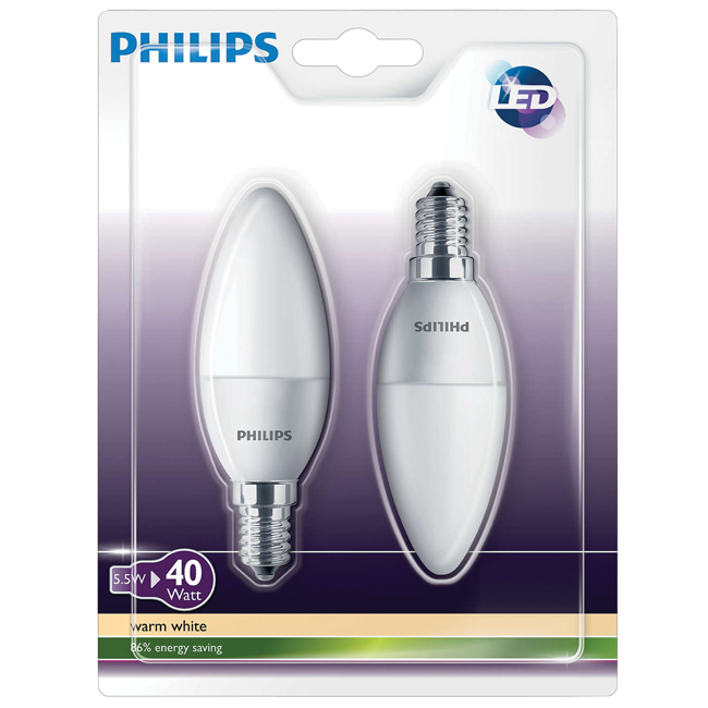 Sijalica led b35 e14 5.5w-40w blister philips | Uradi Sam Doo