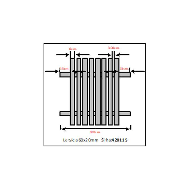 LETVICA PVC 60X20MM – DUŽINA 2M | Uradi Sam Doo
