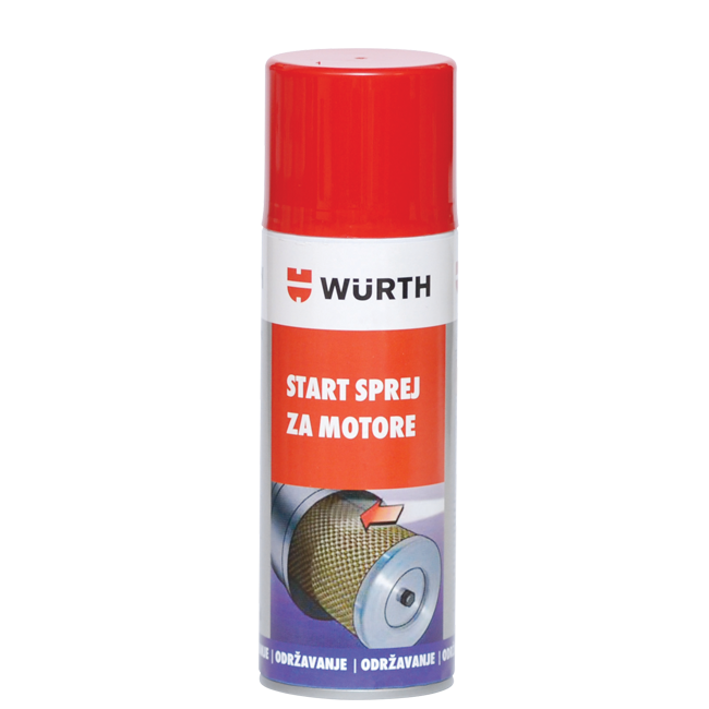 START SPREJ ZA MOTORE 200ML  WURTH | Uradi sam