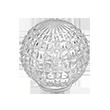 Kugla kristalna reljefna | Uradi Sam Doo